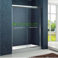 China Shower room Double Sliding Aluminium bypass Shower Doors,Tempered Glass Sliding Enclosed Portable simple shower cabin on sale
