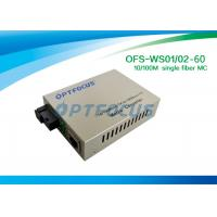 Buy cheap Gigabit Optical Converter / SC Single Ethernet Fiber Optic Converter 1310nm 1550nm SM 60KM from wholesalers