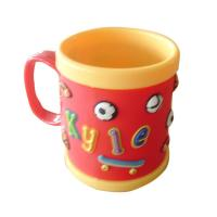 China cute food grade silione 8*8 tea/coffee Mug with customized design for promotion on sale