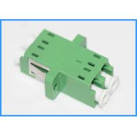 Buy cheap Duplex LC to LC fiber optic cable coupler Green Color PC Plastic Housing from wholesalers