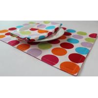 Buy cheap Red Dot Printed 250gsm Canvas Cotton Fabric Placemats Coffee Table Mat from wholesalers