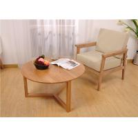 Buy cheap Small Living Room Modern Solid Wood Coffee Table Round Simple Style High Grade from wholesalers