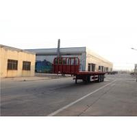 Buy cheap 3 Axles Steel Flatbed Semi Trailer Mechanical Suspension Leaf Spring 13mmx90mm product