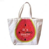 Buy cheap White Color Promotional Cotton Shopping Bag with Logo Printing from wholesalers
