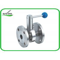 Buy cheap High Performance Hygienic Butterfly Valves , Flanged Butterfly Valve Pull Rod Handle from wholesalers