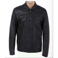 Buy cheap Customized Black Mens Western, Classic, Plus Size Motorcycle Fleece Lined Leather Jacket product
