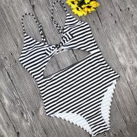 Buy cheap Wholesale and Retail 2018 Women Sexy High Waist Striped One Piece Swimsuit from wholesalers