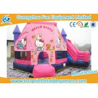 Buy cheap Outdoor Playground Inflatable Bouncy Castle , Inflatable Hello Kitty Baby Bouncer For Rent from wholesalers