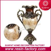 Buy cheap Resin chinese plated decorative flower vase with seashell wholesale from wholesalers