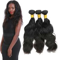 Buy cheap Real Thick Natural Wavy Hair Extensions Customized Length Fashionable Color from wholesalers