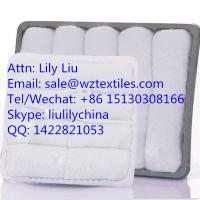 Buy cheap 100% cotton white reusable Airline Towel hot towels from wholesalers