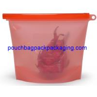 Buy cheap Silicone Food bag, Fresh vegetable Seal packing Bag, heat Resistant Food Storage Bag Contain 1500 ml from wholesalers
