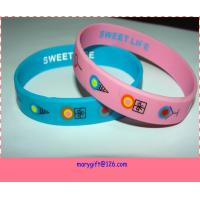 Buy cheap USA ice cream design printed silicone wristband from wholesalers