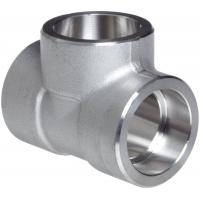 Buy cheap Forged Alloy Steel Fittings , Stainless Steel Equal Tee A-182 / A105,Socketweld & Threaded product