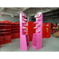 Buy cheap Free Standing Cosmetics Display Stands Gloss lamination , Cardboard Advertising Displays from wholesalers