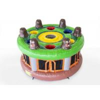 Buy cheap 0.55mm PVC Inflatable Sports Games / Whack A Mole Game With Hammer For Kids from wholesalers