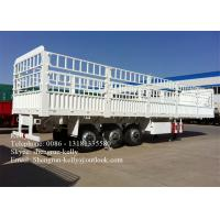 Buy cheap 13 Meter Triple Axle Cargo Side Wall Trailer , 80 ton transportation trailer from wholesalers