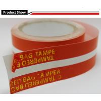 Buy cheap Customized color and logos waterproof Tamper evident security sealing tape for bags, envelope from wholesalers