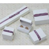 Buy cheap Velvet Or Leather Inside Paper Jewelry Boxes For Pierced Earrings / Pendant from wholesalers