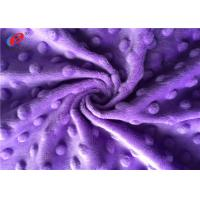 Buy cheap Super Soft Minky Dot Fabric , Polyester Minky Plush Fabric For Baby Blanket from wholesalers