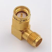 Buy cheap DC 8.5 GHz 90 Degree Sma Connector Sma Female To  Male Adapter Connector Right Angle from wholesalers