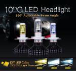 2016 New High Quality car led headlight H7 ZES led headlight bulbs