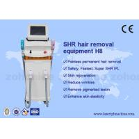 Buy cheap Vertical SHR Hair Removal Machine 510-1200nm Wavelength Manual Training from wholesalers
