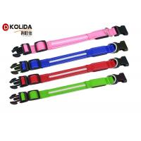 Buy cheap Anti - Lost Polyster LED Dog Collar Necklace Security Glitter Collars Flashing product