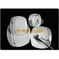 Flower Stamped Ceramics Flat Dinner Plate Set Decorative Porcelain Serving Dish Dinnerware for Beef Steak, Salad