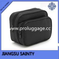 Buy cheap Black polyester classical mens travel cosmetic bag from wholesalers