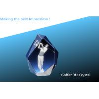 Buy cheap 3d laser crystal golf awards/crystal trophy/blank golfer crystal award/crystal tower award from wholesalers