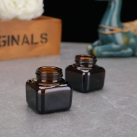 Buy cheap Empty Face Cream 20ml 30ml 50ml Small Square Glass Jars from wholesalers