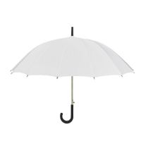 Buy cheap 27 Inch 16K White Windproof Hook Handle Umbrella from wholesalers
