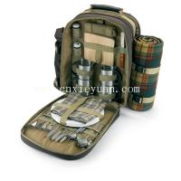 Buy cheap Picnic backpack for 4 people including blanket, bottle holder from wholesalers