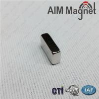Buy cheap NdFeB block magnet N50 20*10*4mm with NiCuNi coating from wholesalers