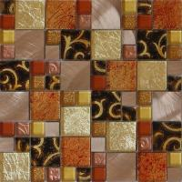 Buy cheap Factory direct glass mix metal mosaic puzzle pattern for interior decoration from wholesalers