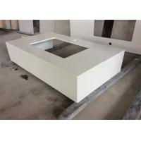 Buy cheap Quartz Stone Gentle White Bathroom Vanity Tops With Undermount Sink , Solid Surface from wholesalers