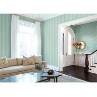 Buy cheap Paper Backed Washable Vinyl Wallpaper Flower Design With Green Color product