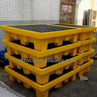 Buy cheap oil spill pallet, made by new OEM rotomold, customized 1/2/4 oil drum from wholesalers