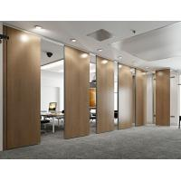 Buy cheap Operable Folding Partition Walls / Soundproof Modern Wood Room Dividers from wholesalers