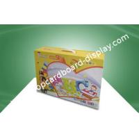Buy cheap Stationery Custom Printed Corrugated Boxes With Plastic Hondle For Kid's Study Books from wholesalers