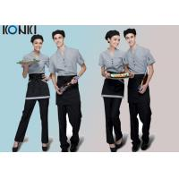 Buy cheap Trendy Restaurant Uniforms For Restaurant Staff / V Neck Shirt And Pants from wholesalers