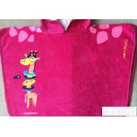 Buy cheap Easy Clean Customized Hooded Beach Towels Pink For Birthday / Holiday from wholesalers