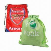 Buy cheap Promotional Nonwoven or PE Drawstring Bag/Backpack, Small Order Quantity are Welcome product