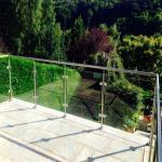 Buy cheap Framed Balcony Stainless Steel Tempered Glass Railing Balustrade Handrail from wholesalers