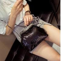 Buy cheap 2016 sequined shoulder bag female alligator handbag new European and American fashion evening bag doctors bag tide from wholesalers