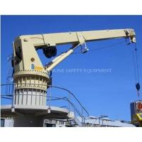 Buy cheap Deck electric hydraulic pedestal marine crane from wholesalers