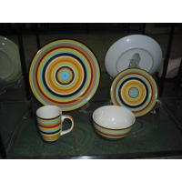 Buy cheap 16pc Yellow Color Stripes Handpainted Modern Dinnerware Sets from wholesalers