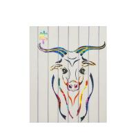 Buy cheap Chinese Culture Zodiac Colorful Animal Paintings , Twelve Animals Ox Wall Arts For Home from wholesalers