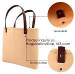 Buy cheap Handmade Fashion felt shoulder Case Ladies Bag Women Handbag Felt Tote Bag with Leather Handle, Bagease, Bagplastics from wholesalers